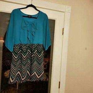 Flirty turquoise dress